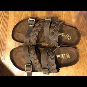 Brown Braided White Mountain Sandals